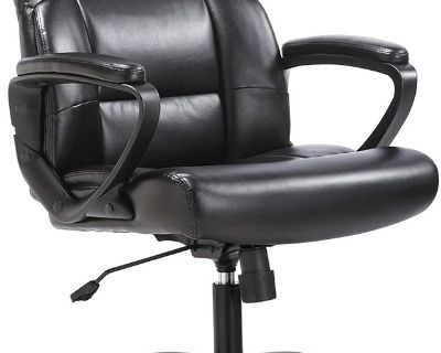 Mid-Back Executive Office Chair - Black - New!