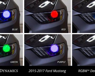 Diode Dynamics: No-Bake! Multicolor Demon Eye Kit for 2015-2017 Ford Mustang! USAMade