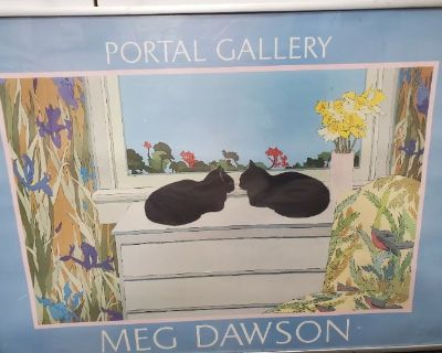 Estate sale with lots of art work
