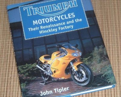 Vintage 1997 Triumph Motorcycles Their Renaissance & Hinkley Factory Hard Cover Book w Dust Jacket