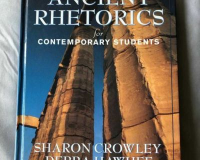 Ancient Rhetorics for Contemporary Students Second Edition by Sharon Crowley