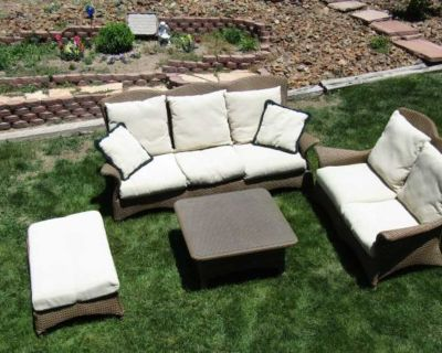Donate!! patio set, all weather, 4 piece