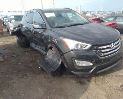 Salvage Gray 2013 Hyundai Santa Fe