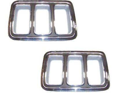 70 Mustang Tail Light Bezels, Pair