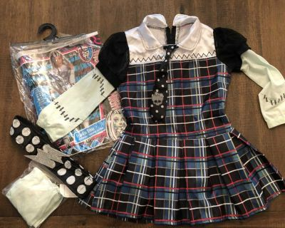 Monster High Frankie Stein Halloween Costume, Girls size 8-10, Scappoose Porch Pick Up Only