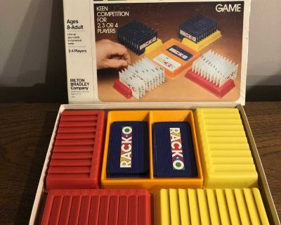 Racko Card game from 1982