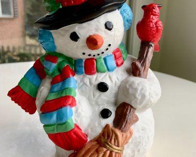 "7"" Lovable Snowman Figureine"