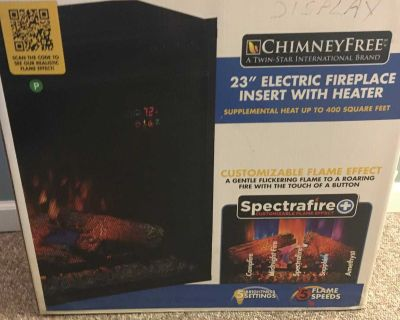 Electric fireplace insert with excellent heater