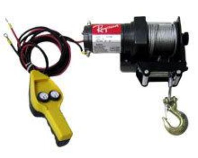 2000lb Winch W/ Roller Fairlead Dc12v Motor Atv Boat Tool Emergency Towing Tool