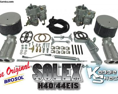 NEW Kadron Solex EMPI H40/44EIS Dual Carbs w/mods
