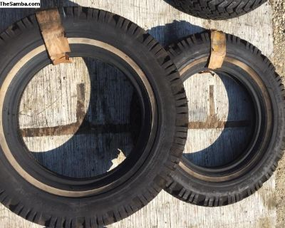 NOS stock set of 2 continental 600-15 tire