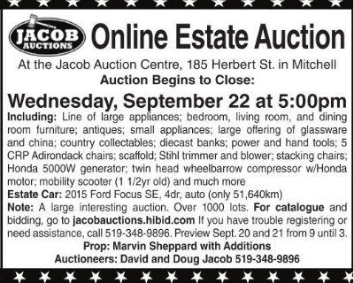 ONLINE ESTATE AUCTION At t...