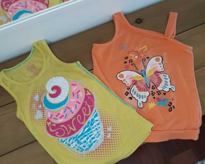 Size 7/8 Faded Glory Tank Top Girls Lot of Two