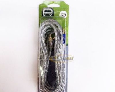 Scosche Erca12 12 Ft. 2-channel Twisted Hex Rca Interconnect Audio Signal Cable