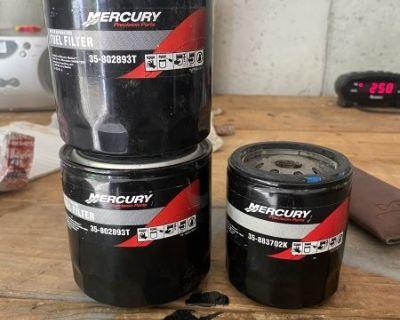 FS NEW Mercury / Mercruiser fuel filter 35-802893T and Oil Filter35-883702k