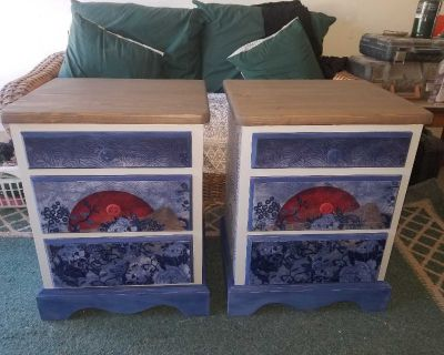 Two matching nightstands