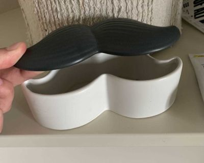 Moustache storage container