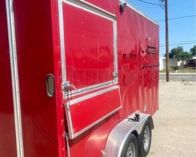 2015 7' x 14' Mobile Kitchen  Food Concession Trailer