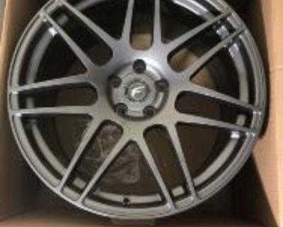 "Forgestar 20"" gunmetal F14 wheels New in Box"