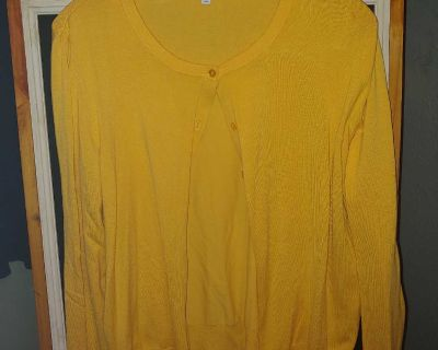 Canary color cardigan