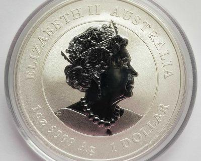 Perth Mint Australia 1 Dollar $1 2020 Chinese Lunar Calendar Silver Ag 9999 999 Pure Fine Coin Coins BU