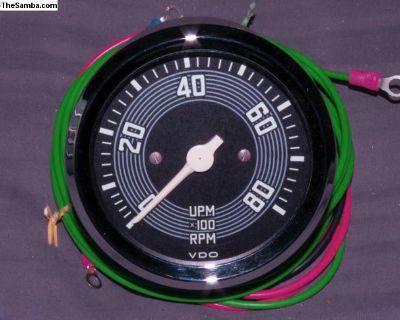 Repro VDO 8K RPM Tachometer Tach 80mm 12V