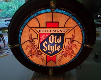 Authentic Vintage 1988 OLD STYLE Lighted Ships Porthole Beer Sign
