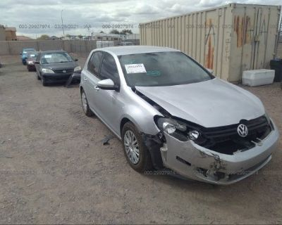 Salvage Silver 2012 Volkswagen Golf
