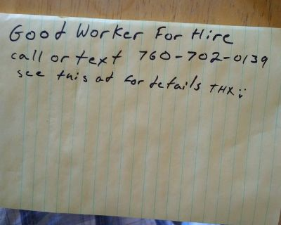 Good worker for hire