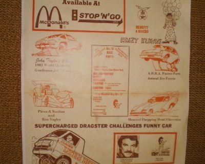 RARE Mid America Raceway RACING GARAGE SHOP POSTER MAR Old School Drag strip