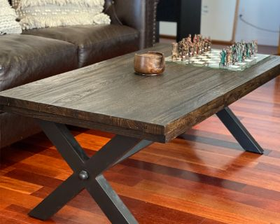 Coffee Table (wood and steel)