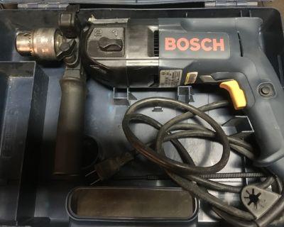Excellent - {{Bosch, 1/2 Hammer Drill, W/Case}} Runs Great