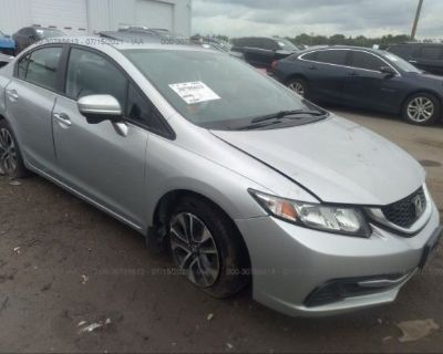 Salvage Silver 2015 Honda Civic Sedan
