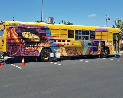 Turnkey Diesel BlueBird Bus Pizza Food Truck w/ Wood Fired Oven