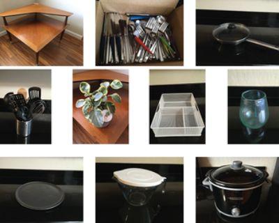 Pots, pans, kitchen utensils