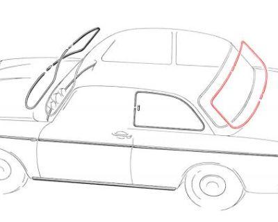 New Notchback Rear Window Trim 1964-1973