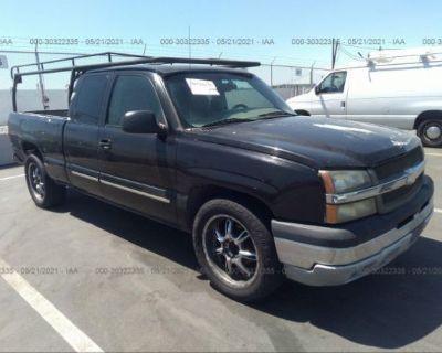 Salvage Black 2003 Chevrolet Silverado 1500