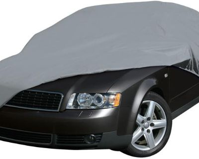 Classic Accessories Deluxe 4 Layer Car Small Compact Gray Cover ( Cl-71003-c)