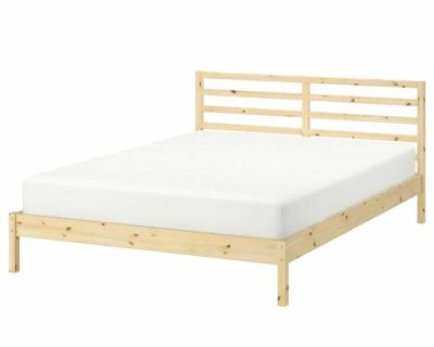 IKEA EUC double bed frame, mattress and storage