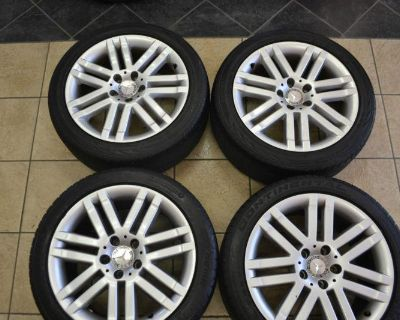 17 Inch Oem Mercedesbenz C300 C250 C350 Sport Staggered Alloy Wheel And Tire Set