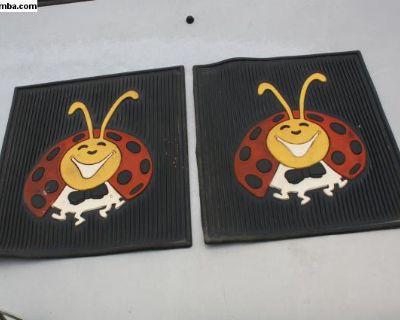 Vintage Mister Beetle Bowtie Bug Floor Mats