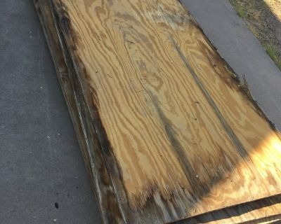 6 sheets of 5/8 Plywood Used