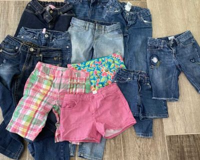 Size 8 jeans and shorts name brand items - Lilly Pulitzer and Janie and Jack