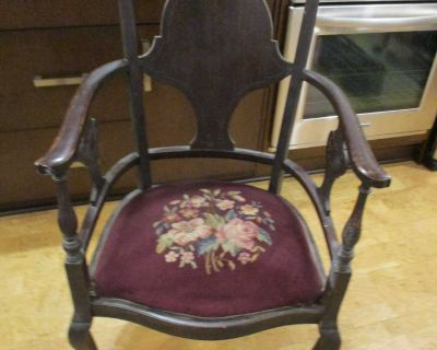 Beautiful Sturdy Antique Chair