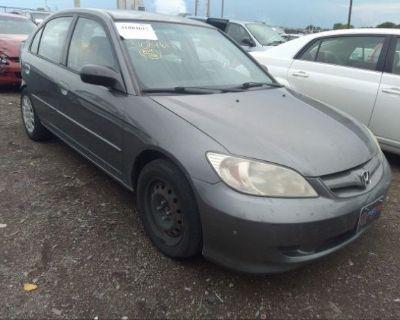 Salvage Gray 2004 Honda Civic