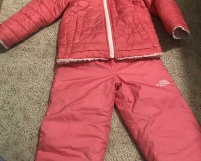 The North Face jacket and Reversible snow pant