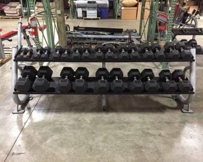 Matrix (2) 2-Tier Dumbbell Racks w/ Dumbbells RTR# 1043674-09