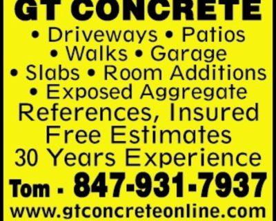 GT CONCRETE - Driveways - Pati...