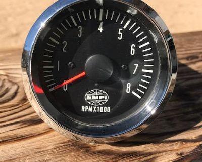 NOS EMPI Red Needle Tachometer Sept 1969 Perfect
