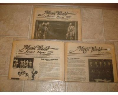 MUSIC WORLD & RECORD DIGEST ~ 3 Newsletters !